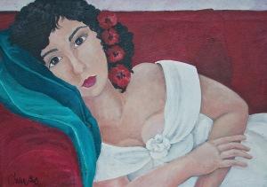 """""""ritratto di Monica"""" olio su tela 2006"""