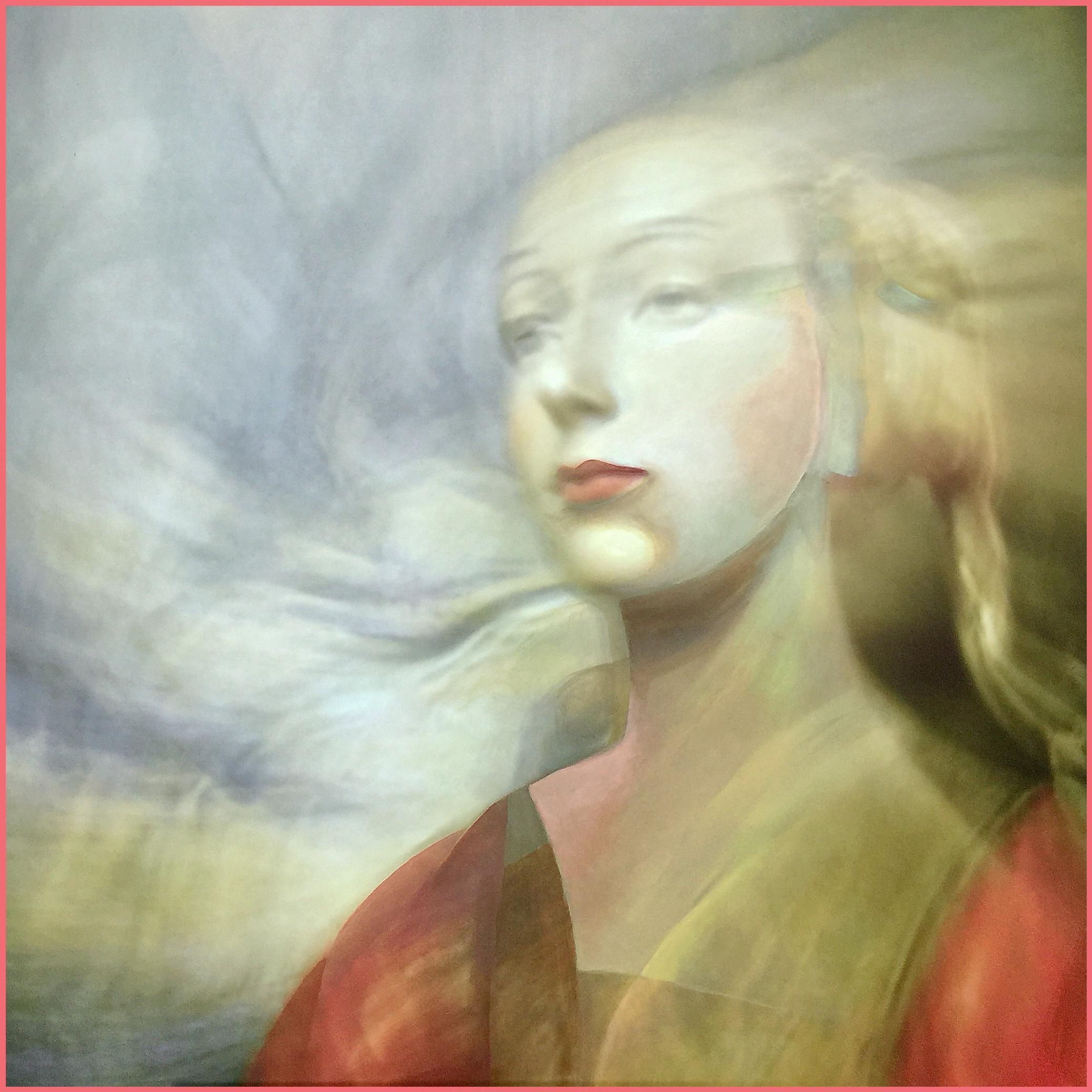 è la fotografia di una scultura trecentesca in legno, la sua pittoricità è stata data dal movimento della macchina fotografica durante lo scatto e da alcuni tocchi di pittura sulla stampa.